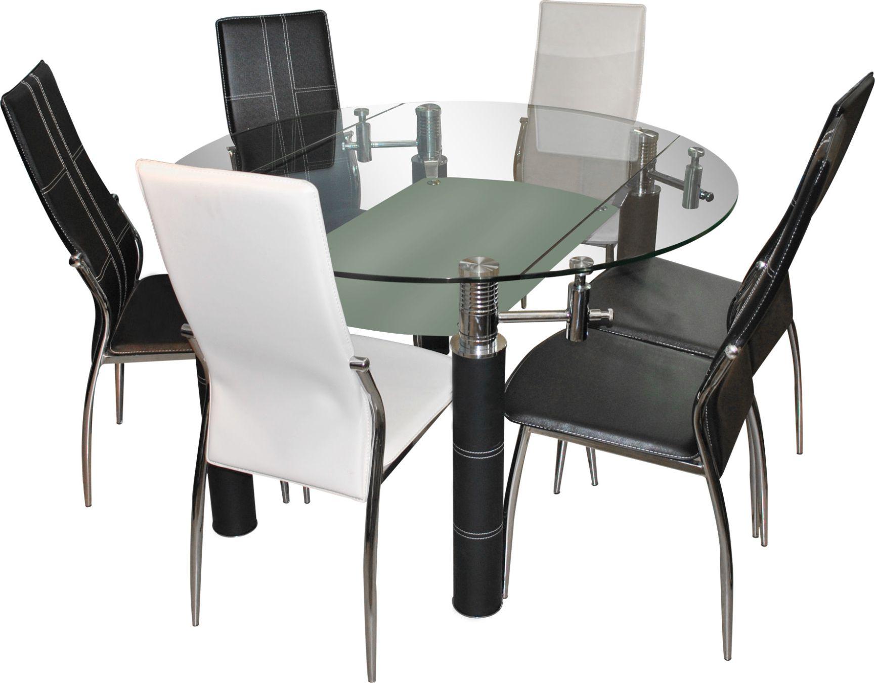 Comedor denise chile muebles dise o y desarrollo de for Comedores redondos de vidrio
